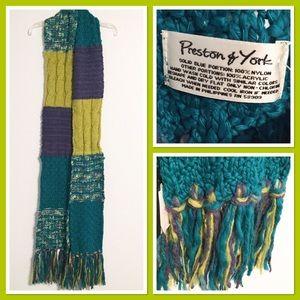 Preston & York Colorful mixed stitch winter scarf